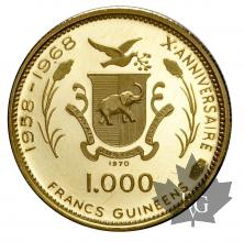 REPUBLIQUE DE GUINÉE-1970-1000 FRANCS-KM17-PROOF