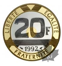 FRANCE-1992-20 FRANCS-PROOF