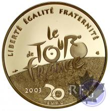 FRANCE-2003-50 EURO EN OR- 100 ANS DE TOUR DE FRANCE
