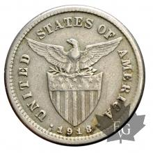 PHILIPPINE-1918S-5 CENTAVOS-US ADMINISTRATION-TTB