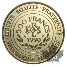 FRANCE-1990-500 FRANCS-CHARLEMAGNE-PROOF