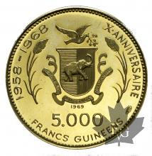 REPUBLIQUE DE GUINÉE-1969-5000 FRANCS-PROOF