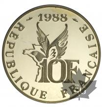 FRANCE-1988-10 FRANCS-ROLAND GARROS-PROOF