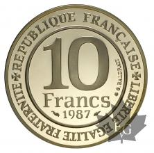 FRANCE-1987-10 FRANCS-MILLENAIRE CAPETIEN-PROOF