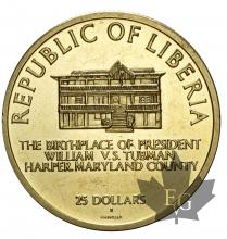 LIBERIE-1970-25 DOLLARS-PROOF