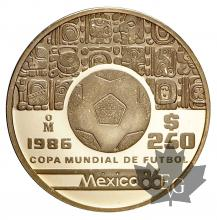 MEXIQUE-1986-250 PESOS-PROOF