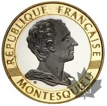 FRANCE-1989-10 FRANCS-PROOF-Montesquieu-EPREUVE-BE