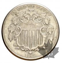 USA-1869-5 CENTS-SUP
