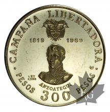COLOMBIE-1969-300 PESOS-PROOF