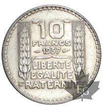 FRANCE-1937-10 FRANCS TURIN-TTB-SUP
