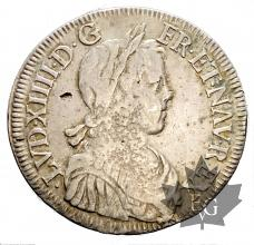 FRANCE-1648K-Ecu mèche longue-Louis XIV