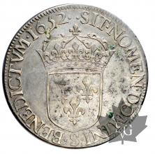 FRANCE-1652S-Ecu mèche longue-Louis XIV
