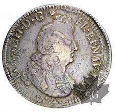 FRANCE-1704 Aix-Ecu aux 8L G. 224 TBTTB-Louis XIV