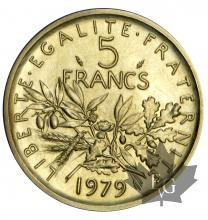 FRANCE-1979-5 FRANCS SEMEUSE-PIEFORT OR-FDC