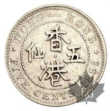 HONG KONG-1895-5 CENTS-SUP