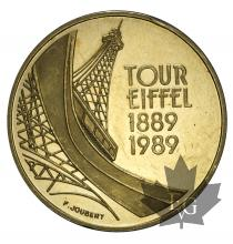 FRANCE-1989-5 FRANCS-PROOF-coup sur la tranche