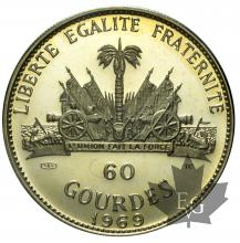HAITI-1969-60 GOURDES-PROOF
