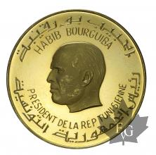 TUNISIE-1967-10 DINARS-PROOF