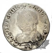 FRANCE-TESTON-1562I-CHARLES IX-LIMOGES-TB