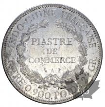 INDOCHINE-1900A-PIASTRE DE COMMERCE-TTB