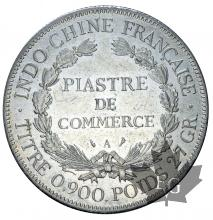 INDOCHINE-1908A-PIASTRE DE COMMERCE-TTB