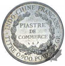 INDOCHINE-1908A-PIASTRE DE COMMERCE-TTB-SUP