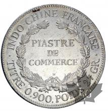 INDOCHINE-1922H-PIASTRE DE COMMERCE-TTB