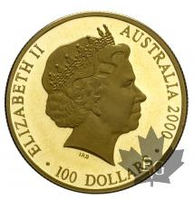 AUSTRALIE-2000-100 DOLLARS-PROOF
