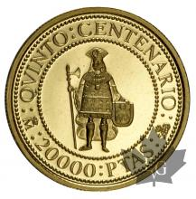 ESPAGNE-1990-20.000 PESETAS-FDC