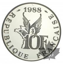 FRANCE-1988-10 FRANCS-ROLAND GARROS-BE-PROOF