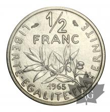 FRANCE-1965-1/2 FRANC-PIEFORT Nickel-FDC