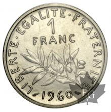 FRANCE-1960-1 FRANC PIEFORT NICKEL-FDC