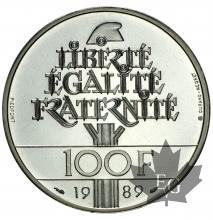 FRANCE-1989-100 FRANCS PIÉFORT ARGENT-PROOF