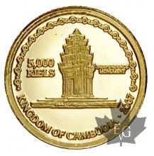 CAMBODGE-2007-5000 RIELS-PROOF