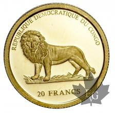 CONGO-2006-20 FRANCS-PROOF