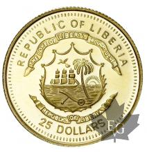 LIBERIE-2005-25 DOLLARS-PROOF