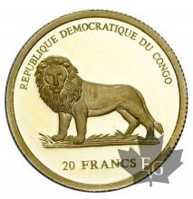CONGO-2003-20 FRANCS-PROOF