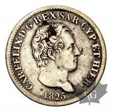 ITALIE-1825TO-50 Centimes- Charle Felix