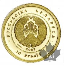 BIÉLORUSSIE-2007-10 ROUBLES-PROOF
