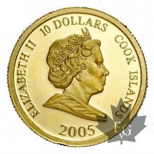 COOK ISLANDS-2005-10 DOLLARS-PROOF
