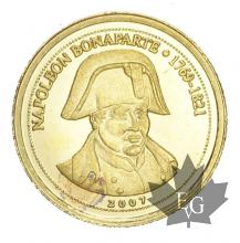 CONGO-2007-1500 FRANCS-PROOF-NAPOLEON BONAPARTE