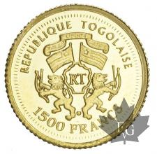 TOGO-2007-1500 FRANCS-PROOF