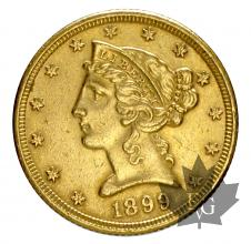 USA-1899-5 DOLLARS-LIBERTY-prSUP