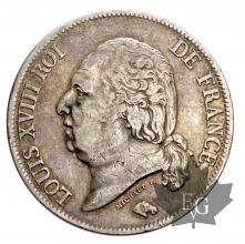 FRANCE-1823Q-5 FRANCS-LOUIS XVIII-TTB-SUP