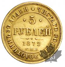 RUSSIE-1872-5 ROUBLES-SUP