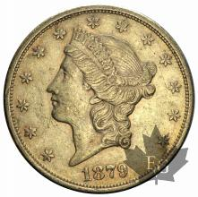 USA-1879S-20 DOLLARS-TTB-SUP