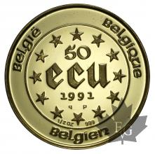 BELGIQUE-1991-50 ECU-PROOF