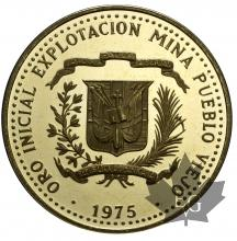 REPUBLIQUE DOMINICAINE-1975-100 PESOS-PROOF