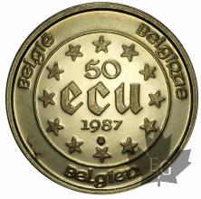 BELGIQUE-1987-50 ECU-PROOF