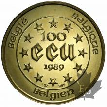 BELGIQUE-1989-100 ECU-PROOF